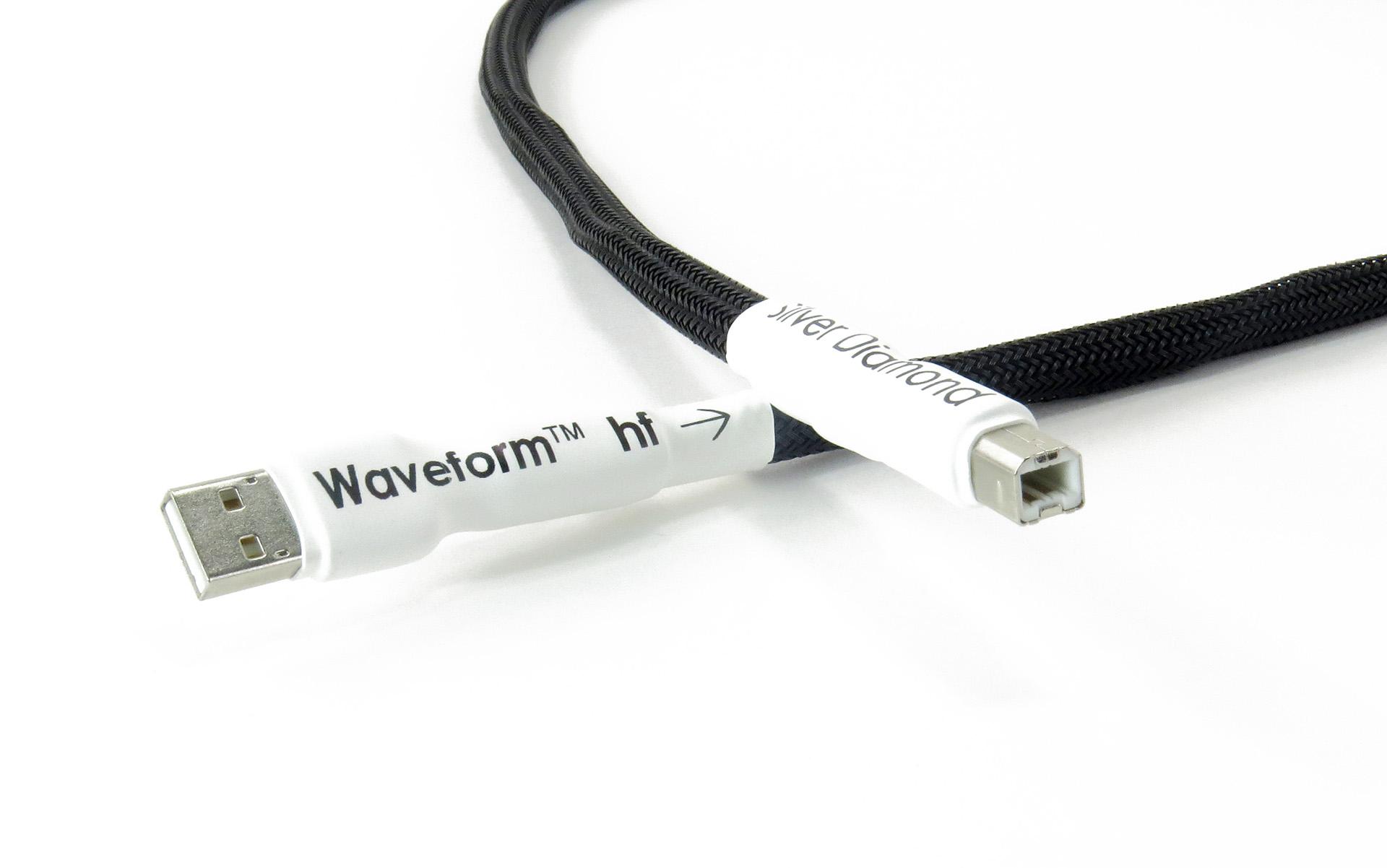 Tellurium Q | Silver Diamond | Waveform™ hf USB Cable
